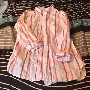 Pink Stripe Button Down